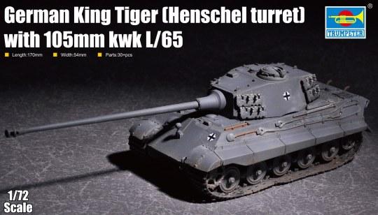Trumpeter - German King Tiger(Henschel turret) with 105mm kWh L/65