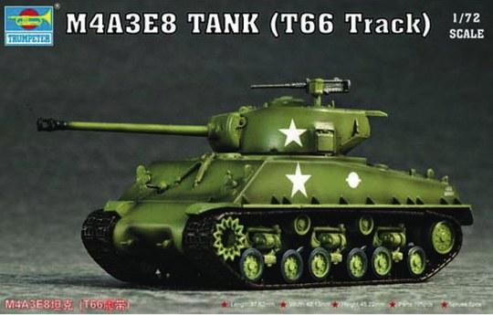 Trumpeter - M4A3E8 Tank (T66 Track)