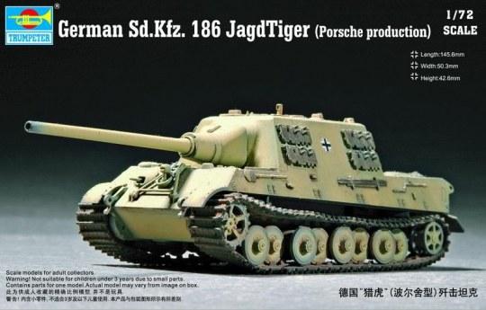 Trumpeter - German Sd.Kfz.186 Jagdtiger (Porsche model)