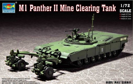 Trumpeter - M1 Panther II Mine clearing Tank