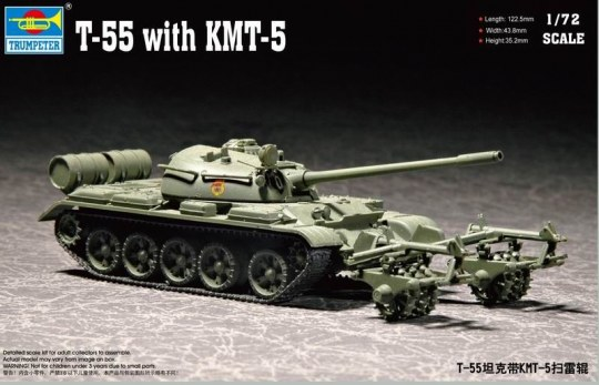 Trumpeter - T-55 with KMT-5