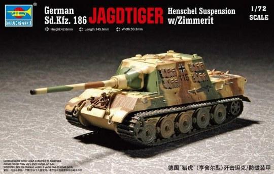 Trumpeter - German Sd.Kfz 186 Jagdtiger wZimmerit