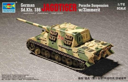 Trumpeter - German Sd.Kfz 186 Jgdtiger wZimmerit Porsche gear
