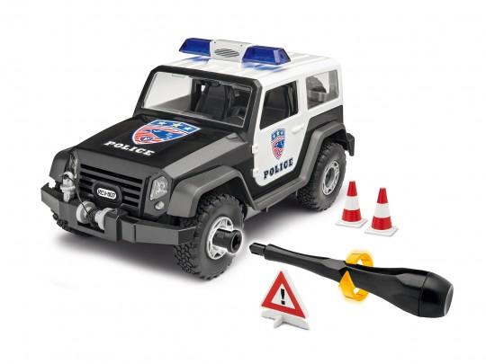 Polizei Jeep mit Zubehör