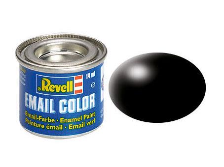 Email Color Schwarz, seidenmatt, 14ml, RAL 9005