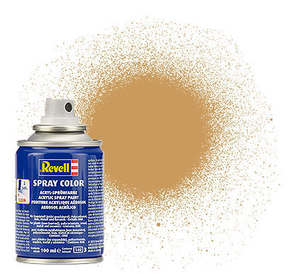 spray ochre brown mat
