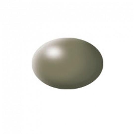 Aqua greyish green silk
