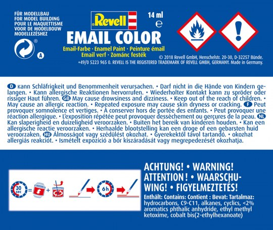 Revell   Email Color, Purple Red, Silk, 14ml, RAL 3004