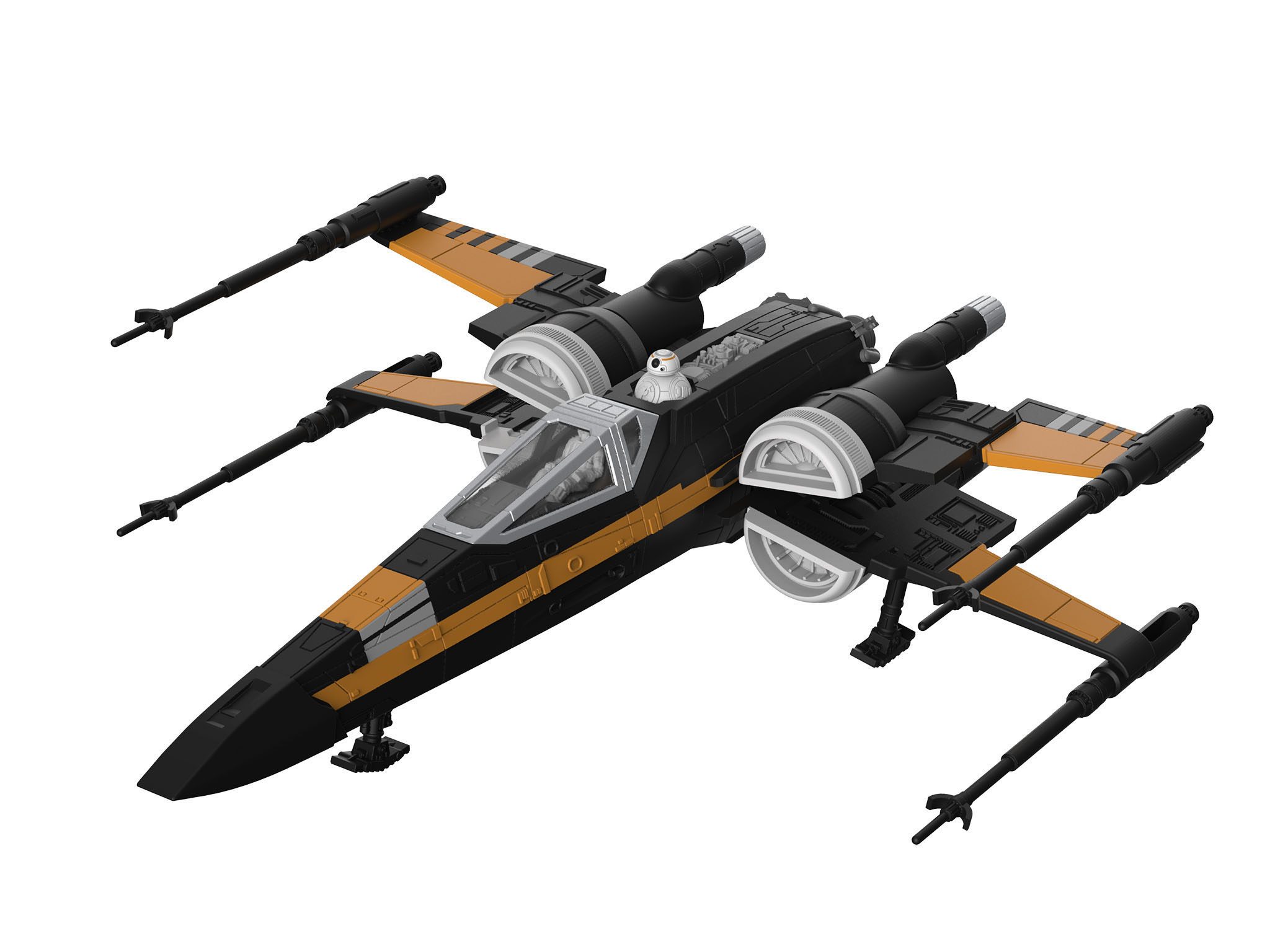 revell build play poe 39 s boosted x wing fighter. Black Bedroom Furniture Sets. Home Design Ideas