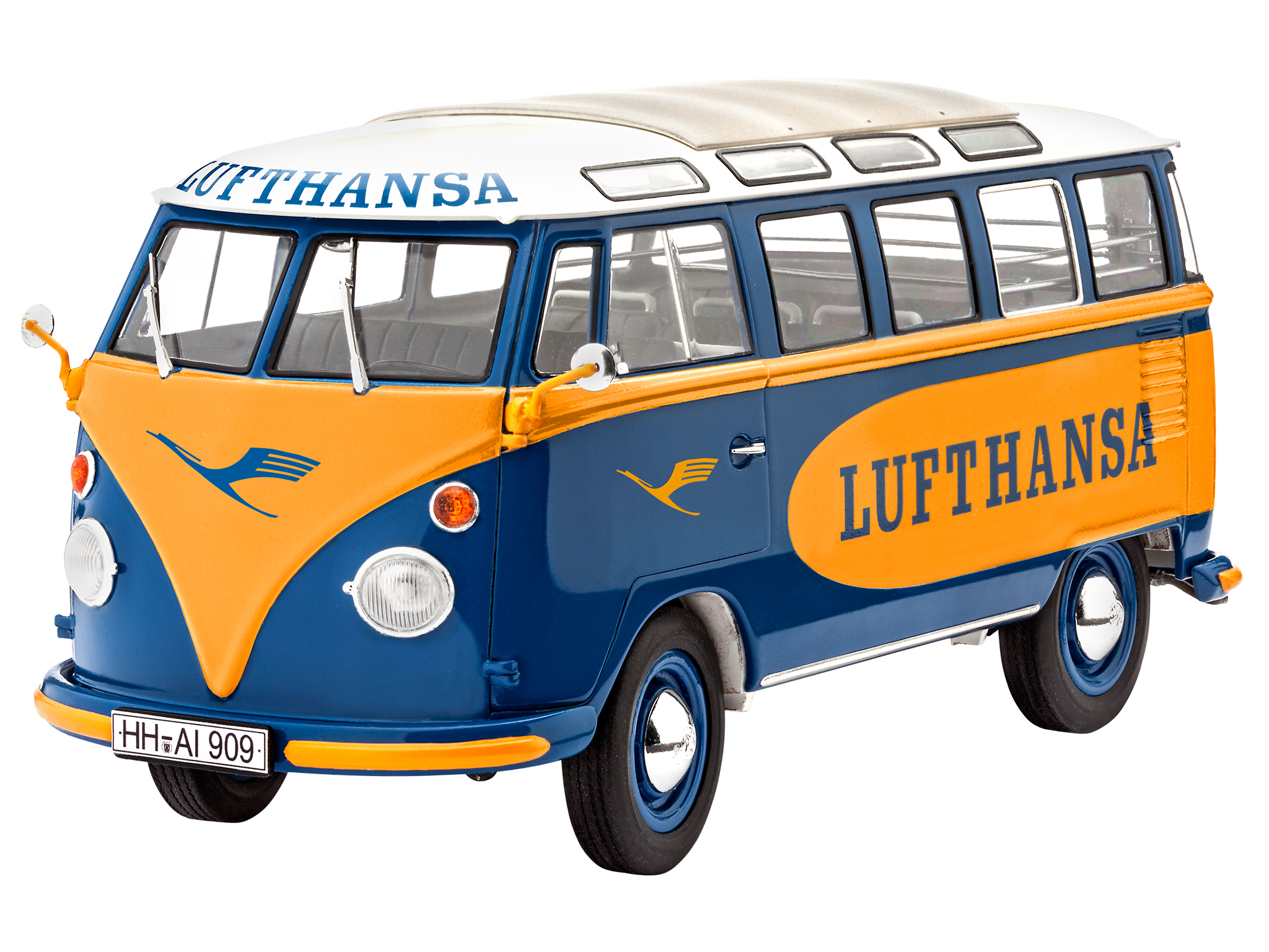 revell shop vw t1 samba bus lufthansa revell shop. Black Bedroom Furniture Sets. Home Design Ideas