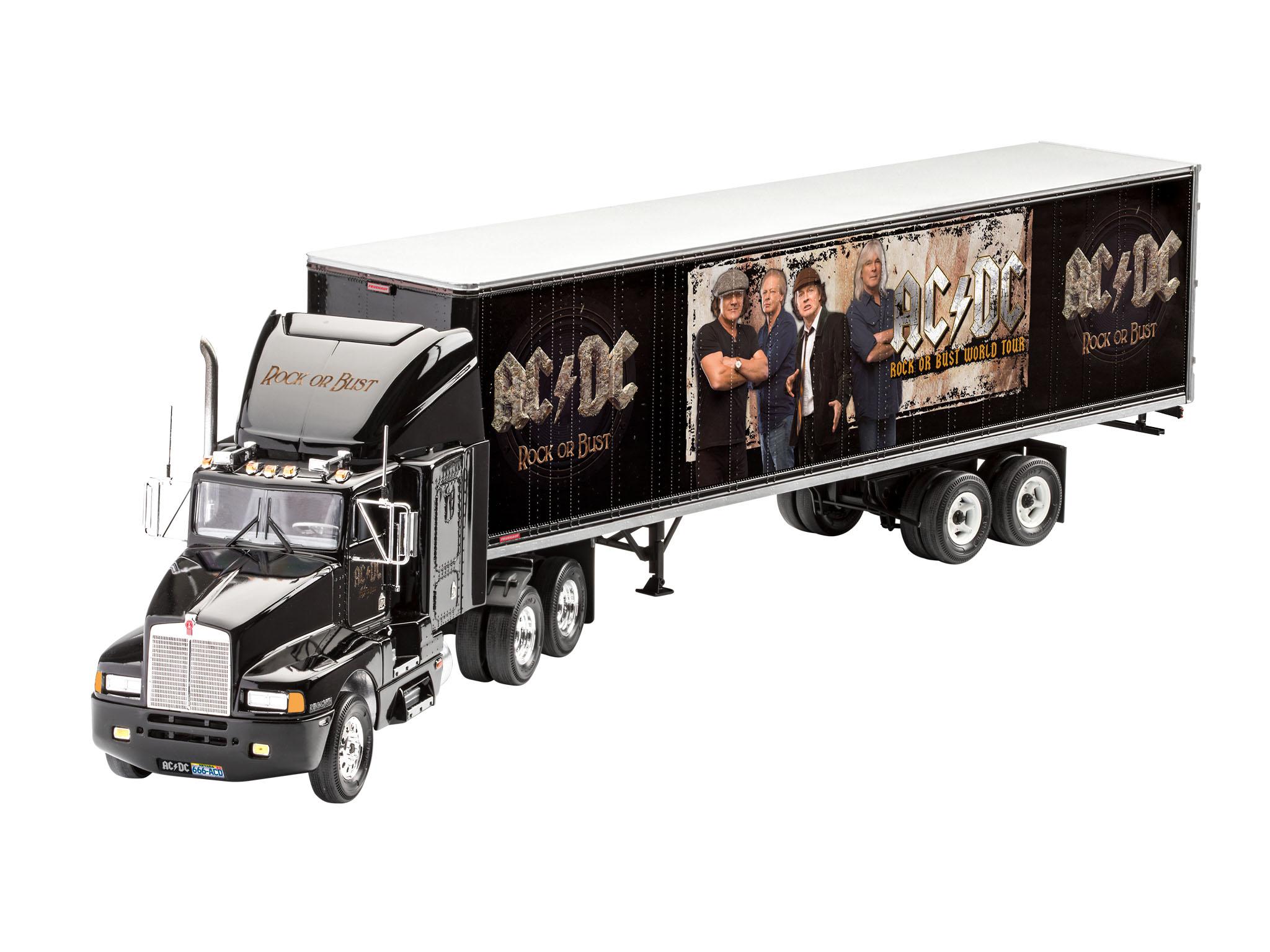 Revell 07453 10 Modellbausatz AC//DC Tour Truck Fanartikel