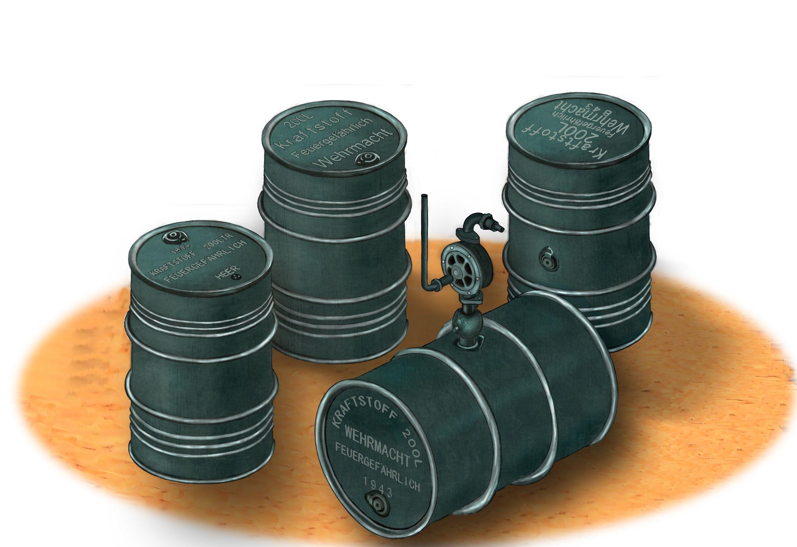 Bronco Ab3575-1//35 WWII German 200L Oil Drums Neu