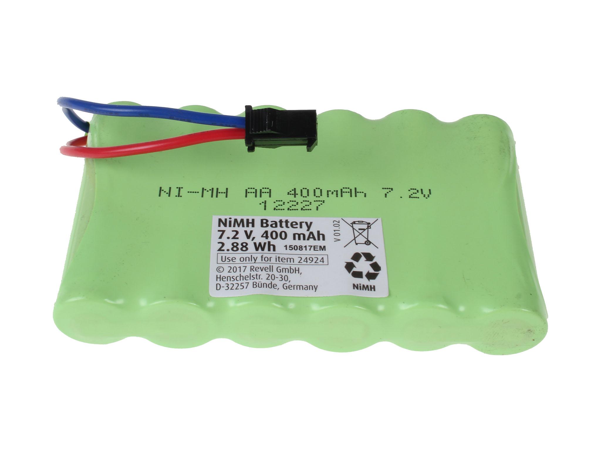 2 Stück 2400mAh AA Ni-MH Akkus 7,2 V SM-2P Stecker mit USB Ladekabel für RC Toys