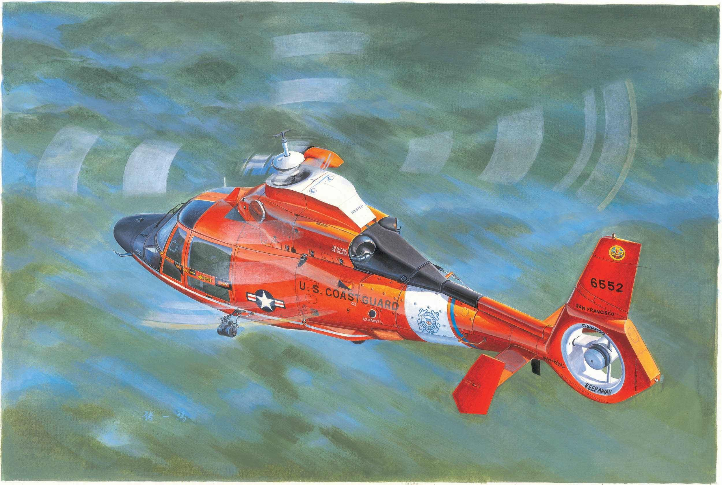 Trumpeter - US Coast Guard HH-65C Dolphin Helicopter