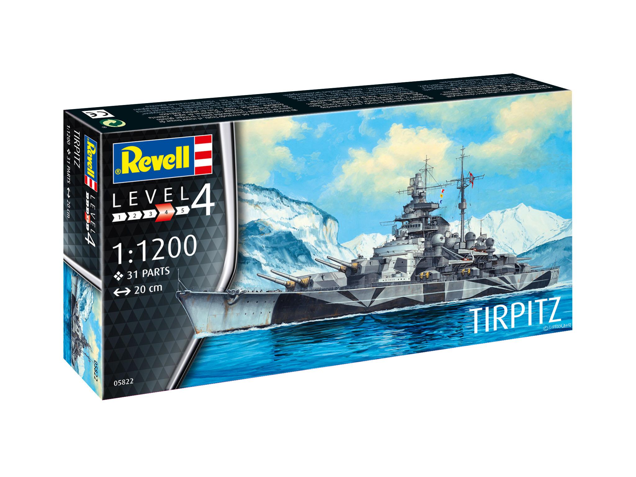 1:1200 Scale Revell 65822 Model Set Tirpitz Multi Colour